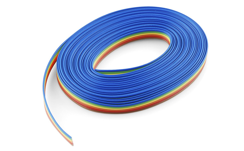 Cabo plano colorido com 6 vias 4,5m