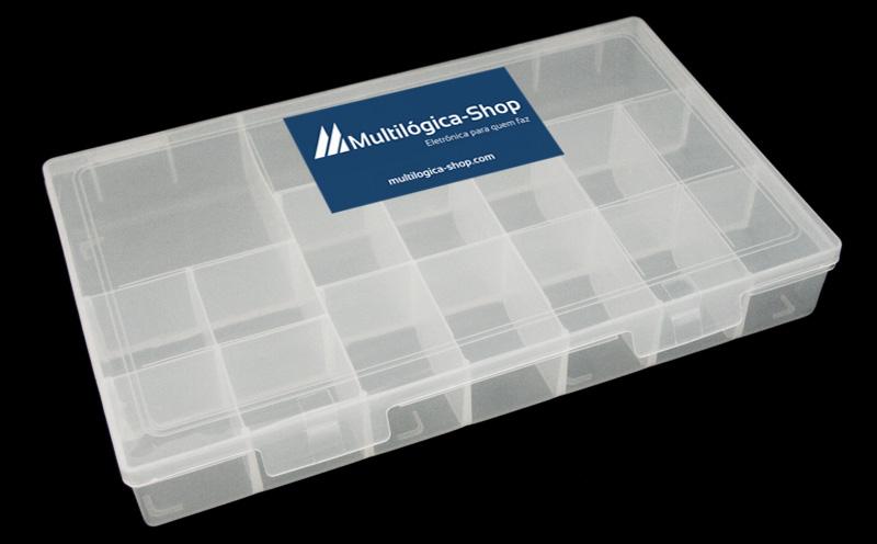 Kit Iniciante com Placa Uno R3 - Iniciante - Detalhe caixa para componentes