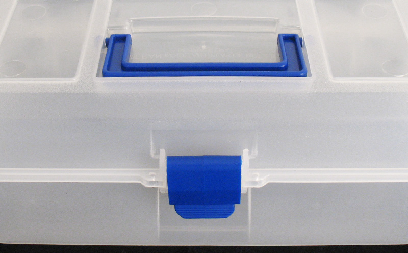 Caixa para componentes grande tipo maleta
