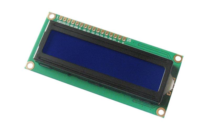 Display LCD 2x16 - branco sobre azul