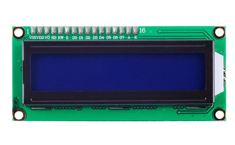 Display LCD 2x16 com módulo IIC/I2C - branco sobre azul