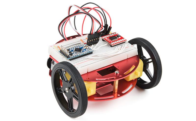 Kit Chassi robótico de alumínio - Exemplo de montagem