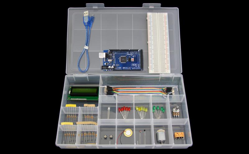 Kit Iniciante com Placa Mega2560 - Iniciante - Detalhe dos produtos (Arduino Compatível)