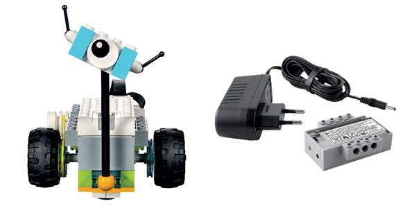 Lego Education WeDo 2.0 - exemplo de montagem e peças avulsas