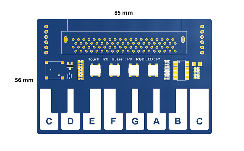 Mini Piano micro:bit - Placa micro:bit não incluída