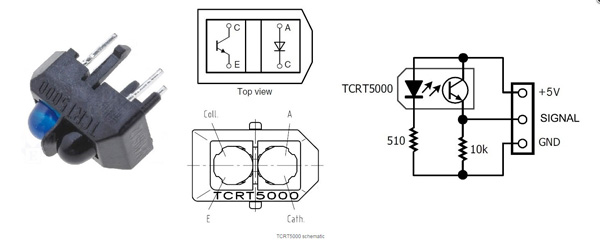 Módulo Seguidor de Linha 3 canais TCRT5000