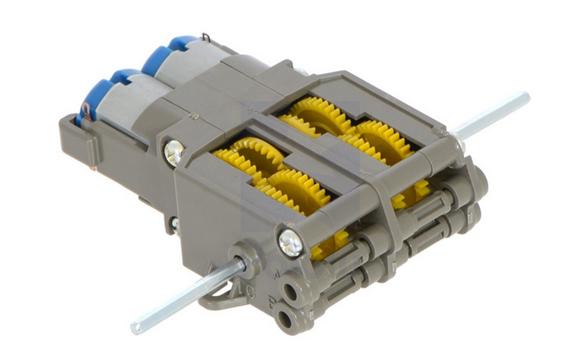 Motor duplo com Caixa de Engrenagens