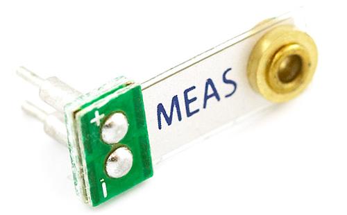 Sensor de Vibração Piezoelétrico Meas com massa pequeno