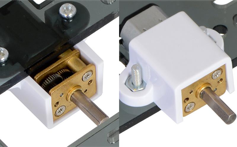 Suporte para micromotores metálicos - motores não incluídos