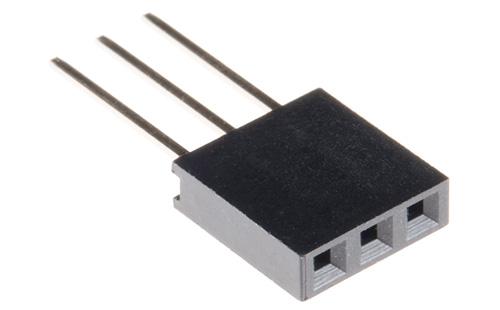 conector empilhável com 3 contatos
